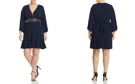 MICHAEL Michael Kors Plus Studded Deep V-Neck Dress - Bloomingdale's_2