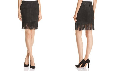 FRAME Fringed Suede Skirt - Bloomingdale's_2