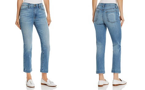 FRAME Le High Straight Blind Stitch Jeans in Withers - Bloomingdale's_2