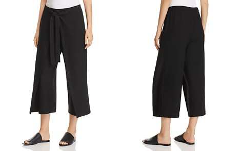 Eileen Fisher Tie-Front Overlay Crop Pants - Bloomingdale's_2