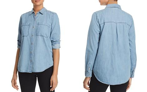 Eileen Fisher Petites Classic Organic-Cotton Shirt - Bloomingdale's_2