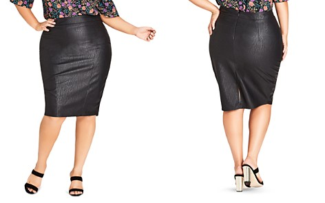 City Chic Plus Truth Faux-Leather Pencil Skirt - Bloomingdale's_2