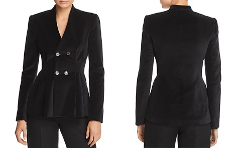 Rebecca Taylor Velveteen Double-Breasted Blazer - Bloomingdale's_2