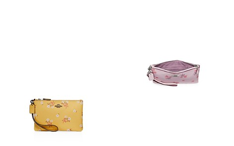 COACH Small Floral Bow Wristlet - Bloomingdale's_2