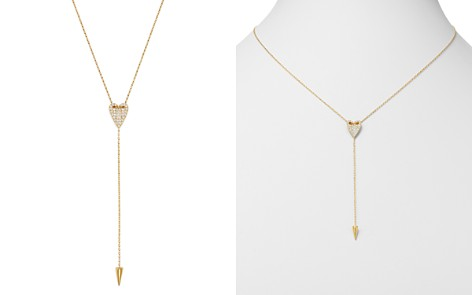 Bloomingdale's Pavé Diamond Folded Heart Y-Necklace in 14K Yellow Gold, 0.25 ct. t.w. - 100% Exclusive_2