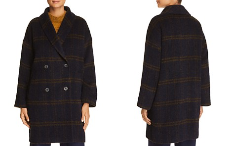 Eileen Fisher Plaid Double-Breasted Coat - Bloomingdale's_2