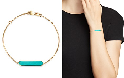 Olivia B 14K Yellow Gold Stabilized Turquoise Bar Bracelet - 100% Exclusive - Bloomingdale's_2