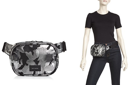 STATE Crosby Metallic Camo Belt Bag - Bloomingdale's_2