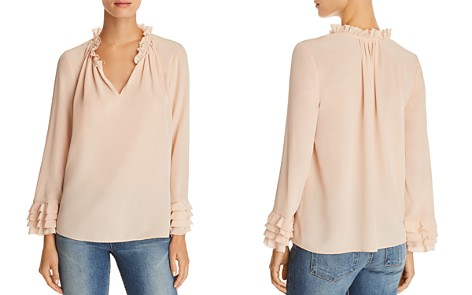 Rebecca Taylor Ruffled Silk Georgette Top - Bloomingdale's_2