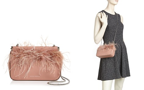 Loeffler Randall Maisie Feather-Trim Leather Pouch - Bloomingdale's_2