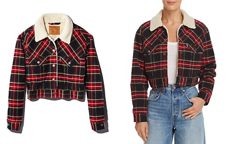 Levi's Plaid Corduroy Cropped Trucker Jacket - 100% Exclusive - Bloomingdale's_2