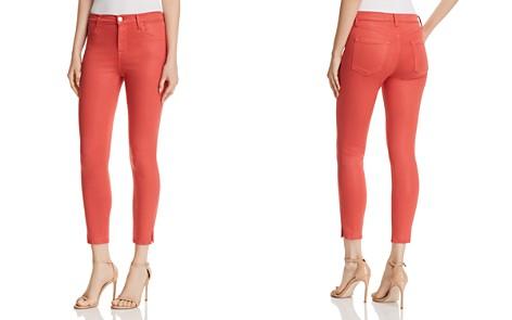 J Brand Alana High Rise Crop Skinny Jeans in Coated Rose Tea - Bloomingdale's_2