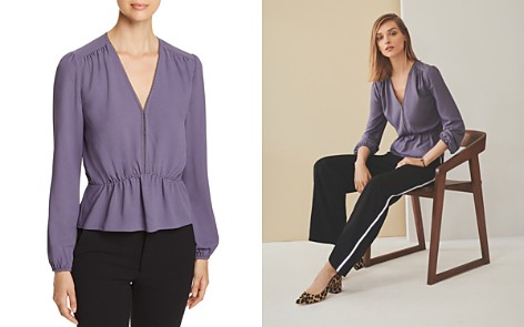 1.STATE Shirred Peplum Top - Bloomingdale's_2