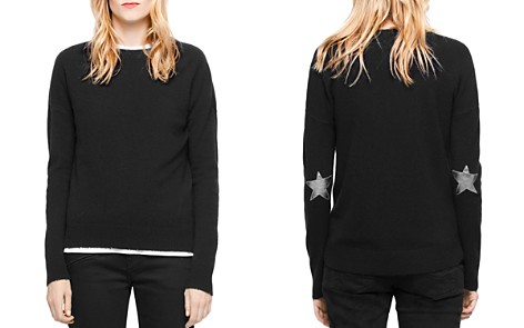 Zadig & Voltaire Cici Star-Patch Cashmere Sweater - Bloomingdale's_2