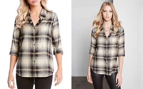 Karen Kane Plaid Button-Down Shirt - Bloomingdale's_2