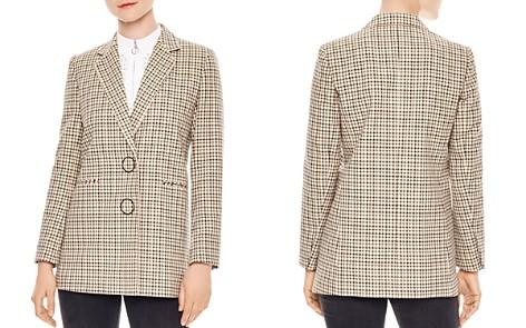 Sandro Zack Check-Pattern Cotton Blazer - Bloomingdale's_2