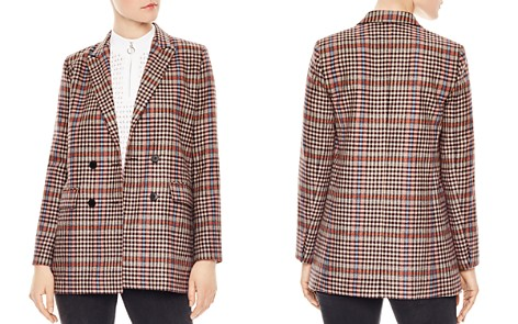 Sandro Solution Checked Double-Breasted Blazer - Bloomingdale's_2
