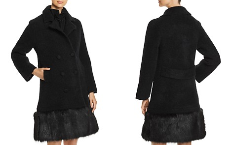 Emporio Armani Double-Breasted Faux-Fur Trimmed Coat - Bloomingdale's_2