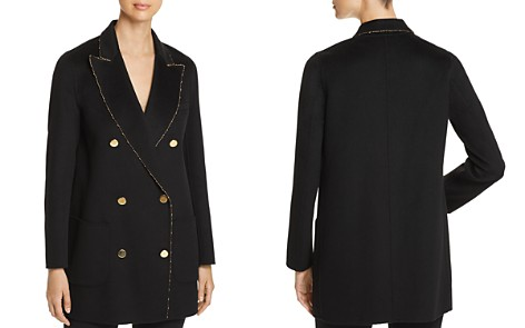 Emporio Armani Metallic-Trimmed Double-Breasted Wool Coat - Bloomingdale's_2