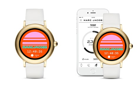 MARC JACOBS Riley White Strap Touchscreen Watch, 44mm - Bloomingdale's_2
