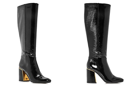 Tory Burch Women's Juliana Round Toe Textured Patent Leather Boots - Bloomingdale's_2