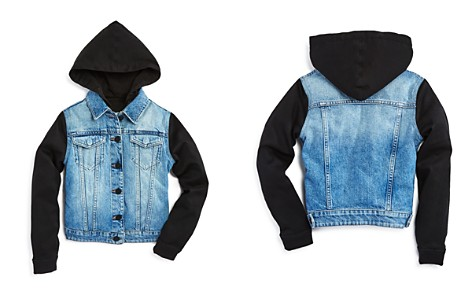 DL1961 Boys' Denim Jacket with Knit Sleeves & Hood - Big Kid - Bloomingdale's_2