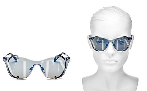 Valentino Women's Mirrored Shield Sunglasses, 130mm - Bloomingdale's_2