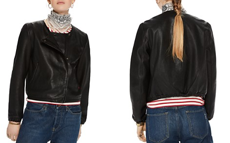 Scotch & Soda Leather Bomber Jacket - Bloomingdale's_2