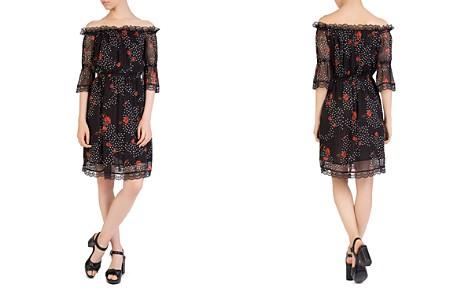 The Kooples Popi Pop Off-the-Shoulder Floral-Print Dress - Bloomingdale's_2