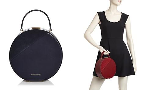 Tammy & Benjamin Medium Leather & Suede Hat Box Bag - Bloomingdale's_2