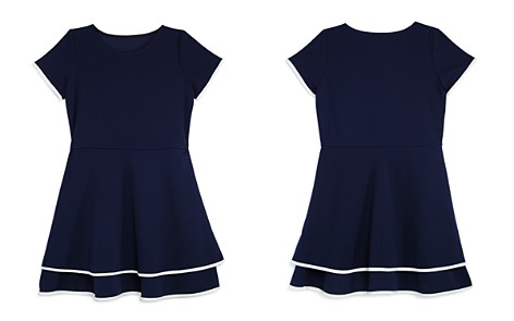 AQUA Girls' Tiered Contrast-Trim Dress, Big Kid - 100% Exclusive - Bloomingdale's_2