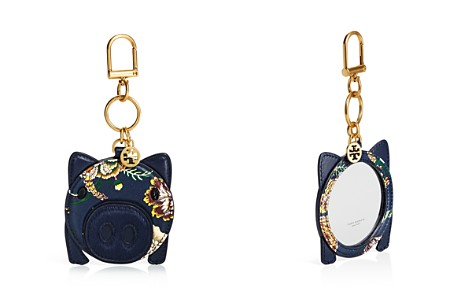 Tory Burch Pig Floral-Print Mirror Leather Key Fob - Bloomingdale's_2