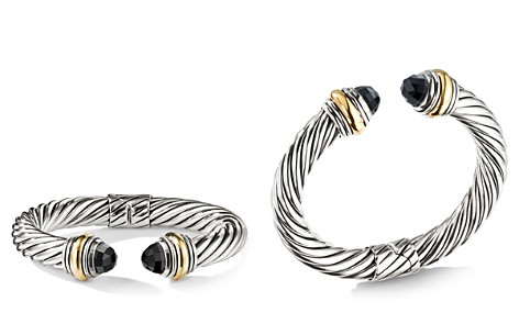 David Yurman Cable Classics Bracelet with Black Onyx and 14K Gold, 10mm - Bloomingdale's_2