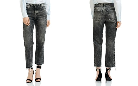 Maje Paola Acid Washed Cropped Frayed Jeans - Bloomingdale's_2