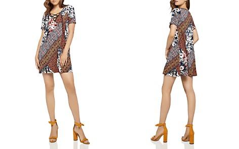 BCBGeneration Lace-Up Patchwork-Print Dress - Bloomingdale's_2
