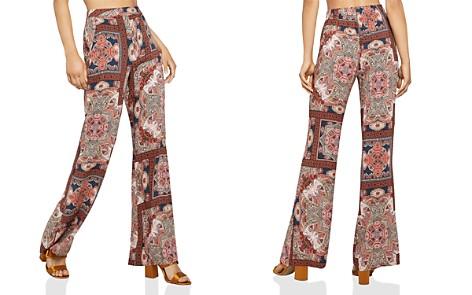 BCBGeneration Paisley Print Flared Pants - Bloomingdale's_2