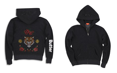 Butter Girls' Tiger & Roses Jeweled Hoodie - Big Kid - Bloomingdale's_2