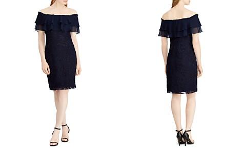Lauren Ralph Lauren Floral Embroidered Off-the-Shoulder Dress - Bloomingdale's_2