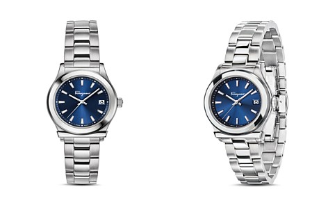 Salvatore Ferragamo Ferragamo 1898 Blue Bracelet Watch, 28mm - Bloomingdale's_2