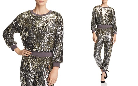 Alice + Olivia Smith Sequined Cropped Sweatshirt - Bloomingdale's_2