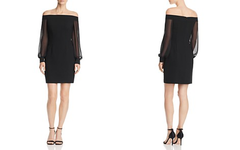 Aidan by Aidan Mattox Off-the-Shoulder Crepe Dress - 100% Exclusive - Bloomingdale's_2