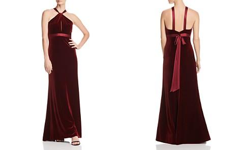 Aidan Mattox Satin-Trimmed Velvet Gown - 100% Exclusive - Bloomingdale's_2