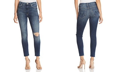 MOTHER The Looker High-Rise Ankle Fray Skinny Jeans in Close to the Edge - Bloomingdale's_2
