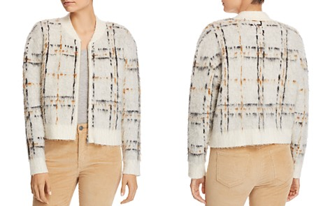 Current/Elliott The Bets Textured Plaid Cardigan - Bloomingdale's_2