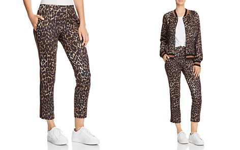 PAM & GELA Leopard Print Cropped Track Pants - Bloomingdale's_2