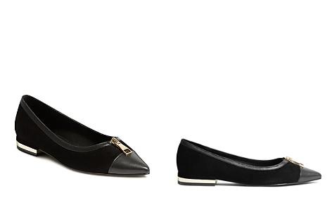 KAREN MILLEN Women's Pointed Toe Suede Ballerina Flats - Bloomingdale's_2