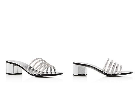 Giuseppe Zanotti Women's Embellished Leather Block-Heel Slide Sandals - Bloomingdale's_2