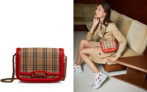 Burberry 1983 Check Link Medium Fabric & Patent Leather Shoulder Bag - Bloomingdale's_2