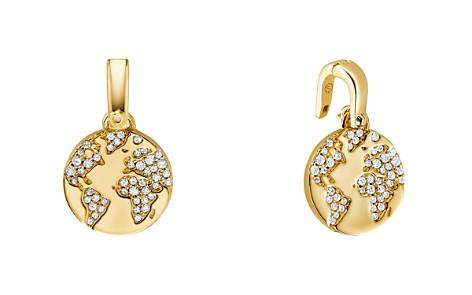 Michael Kors Custom Kors 14K Gold-Plated Sterling Silver Globe Charm - Bloomingdale's_2