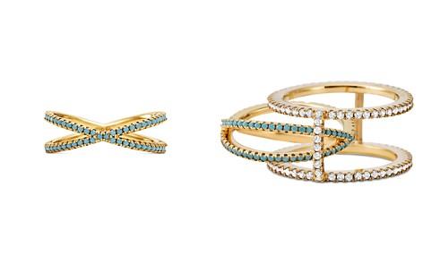Michael Kors Custom Kors 14K Gold-Plated Sterling Silver Pavé Nesting Ring Insert - Bloomingdale's_2